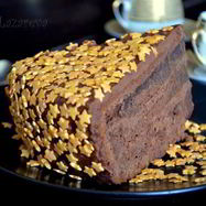 Рецепт Новогоднего шоколадного торта Ночное небо